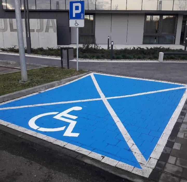 Oznakowanie poziome - Malowanie stanowisk dla niepełnosprawnych
