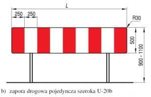 Zapora drogowa U-20b