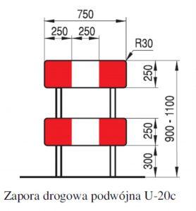 Zapora drogowa U-20c